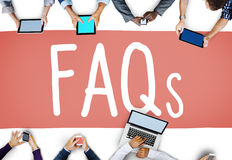 Frequently Asked Questions Faq Feedback Information Concept.  Stock Image