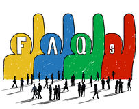 Frequently Asked Questions FAQ Problems Concept stock illustration