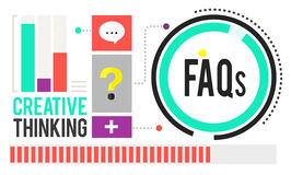 Frequently Asked Questions FAQ Problems Concept Stock Image