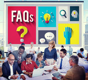 Frequently Asked Questions Help Information Answer Concept Royalty Free Stock Photography