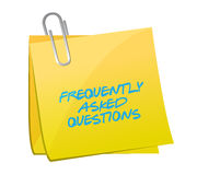 Frequently asked questions post illustration Stock Photos