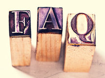 Frequently asked questions. Rubber stamp Stock Photography