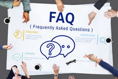 Frequently Asked Questions Solution concept. Frequently Asked Questions Solution Discussion Royalty Free Stock Photos