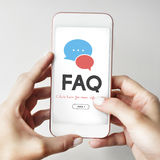 Frequently Asked Questions Solution concept. Frequently Asked Questions Solution Feedback Stock Photos