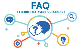 Frequently Asked Questions Solution concept. Is important Royalty Free Stock Images