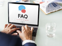 Frequently Asked Questions Solution concept. Frequently Asked Questions Solution Information Stock Image