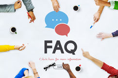 Frequently Asked Questions Solution concept. People Frequently Asked Questions Solution Royalty Free Stock Image