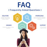 Frequently Asked Questions Solution concept. Frequently Asked Questions Solution Support Royalty Free Stock Image