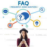 Frequently Asked Questions Solution concept. Frequently Asked Questions Survey concept Royalty Free Stock Photo