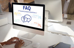 Frequently Asked Questions Solution concept. Frequently Asked Questions Survey concept Stock Image