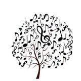 Music notes tree royalty free illustration