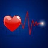 Frequenza cardiaca illustrazione di stock
