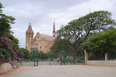 Frere Hall. Is one of the few well-preserved buildings from the days of the British Raj that still exists in Karachi, Sindh, Pakistan Royalty Free Stock Photography