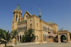 Frere Hall Cathedral, Karatschi, Pakistan stockbilder