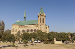 Frere Hall in Karatschi, Pakistan Stockbild