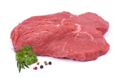 Fres beef steaks. Fresh beef steaks on white ground Stock Image