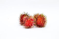 Fres raw rambutan Stock Images