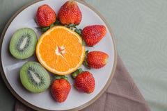 Fresa anaranjada del kiwi Imagen de archivo