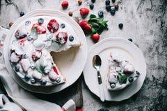 Fresa cake Imagen de archivo libre de regalías