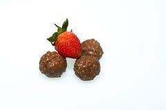 Fresa con el chocolate Imágenes de archivo libres de regalías