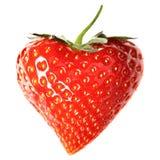 Fresa-corazón Fotos de archivo