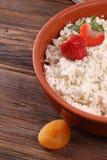 Fresa de la comida de la foto del pueblo del desayuno foto de archivo libre de regalías