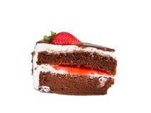 Fresa de la torta Foto de archivo libre de regalías