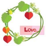 Fresa del amor stock de ilustración