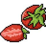 fresa del arte del pixel del vector ilustración del vector