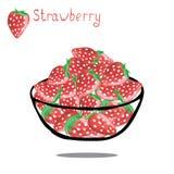 Fresa dulce en el fondo blanco Fotografía de archivo libre de regalías