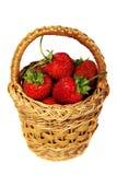 fresa en cesta Foto de archivo libre de regalías