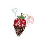 Fresa en chocolate Foto de archivo