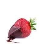 Fresa fresca en chocolate Fotos de archivo libres de regalías