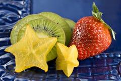 Fresa, kiwi, y fruta de estrella Foto de archivo libre de regalías