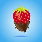 Fresa sumergida en chocolate Fotografía de archivo libre de regalías