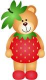 Fresa Teddy Bear stock de ilustración