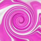 Fresa y crema azotada en un Swirly Fotografía de archivo