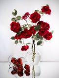Fresa y rosas imagen de archivo libre de regalías
