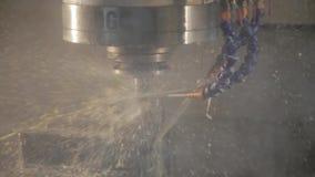 Fresadora del CNC almacen de metraje de vídeo