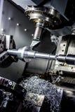 Fresadora metalúrgica del CNC Imagen de archivo libre de regalías