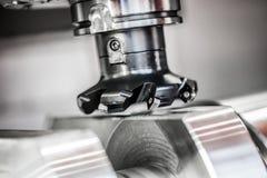 Fresadora metalúrgica del CNC Foto de archivo