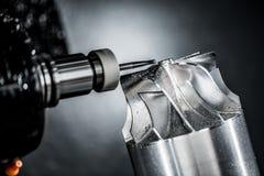 Fresadora metalúrgica del CNC Imagenes de archivo