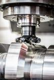 Fresadora metalúrgica del CNC Imagen de archivo