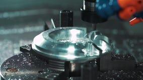 Fresadora metalúrgica del CNC almacen de video