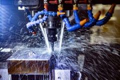 Fresadora metalúrgica del CNC Foto de archivo libre de regalías