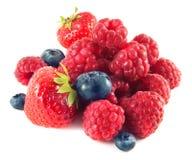Fresas, arándanos, frambuesas. Aislado. imagen de archivo libre de regalías
