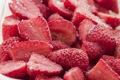 Fresas congeladas Imágenes de archivo libres de regalías