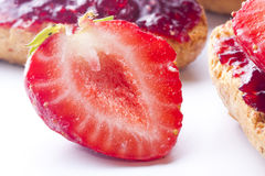Fresas de temporada Imagen de archivo libre de regalías