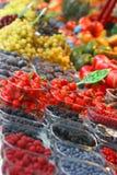 Fresas del mercado de los granjeros Imagenes de archivo