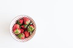Fresas desde arriba Imagen de archivo libre de regalías